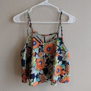 Tops - Strappy Floral Tank